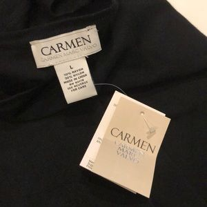 Carmen Marc Valvo sweater top size L NWT
